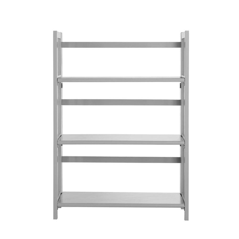 Grey Folding/Stacking Open Bookcase