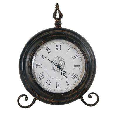 11.5 in. x 9 in. Metal Tabletop Clock