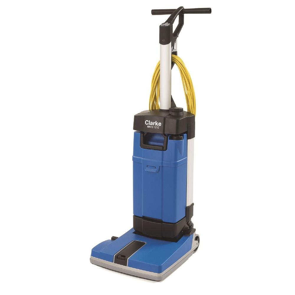 Floor scrubbers polishers hard surface cleaners the home depot ma10 12e upright floor scrubber with off aisle and carpet kit dailygadgetfo Images
