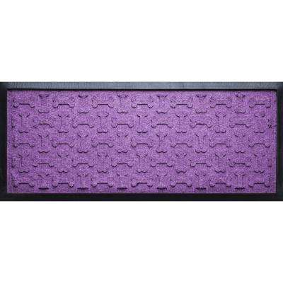 Purple 15 in. x 36 in. x 1/2 in. Dog Treats Boot Tray