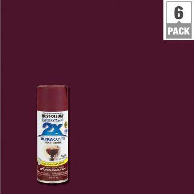 12 oz. Satin Claret Wine General Purpose Spray Paint (6-Pack)