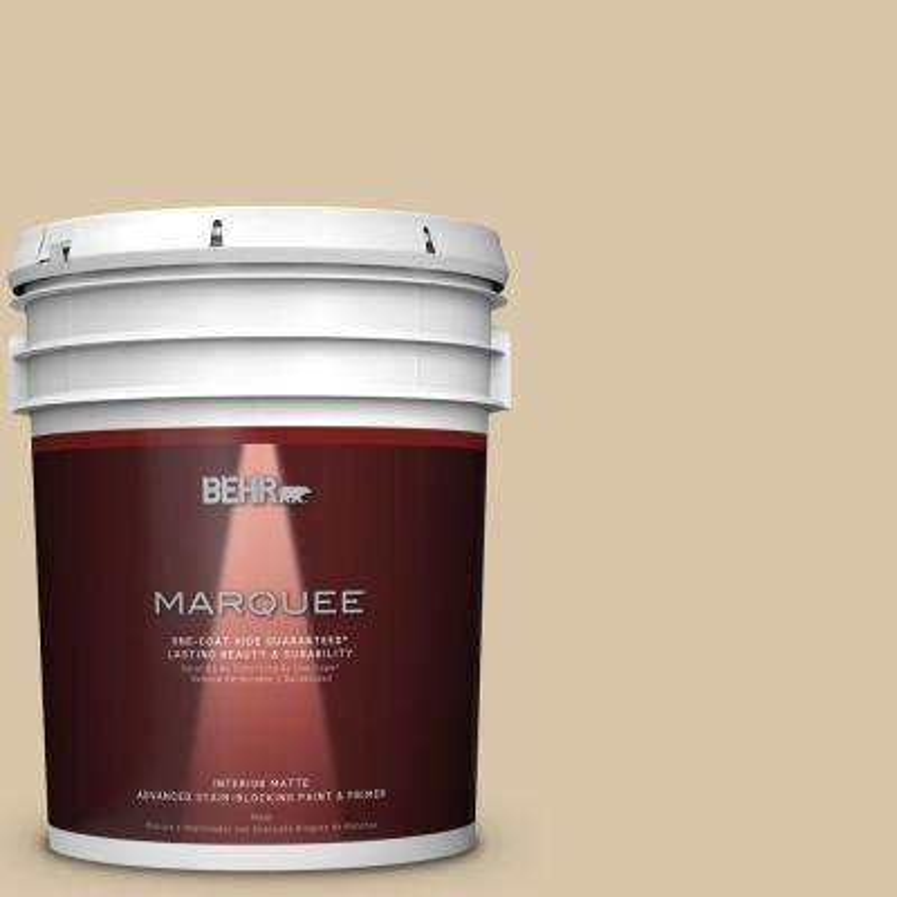 5 gal. #MQ2-23 Almond Butter One-Coat Hide Matte Interior Paint