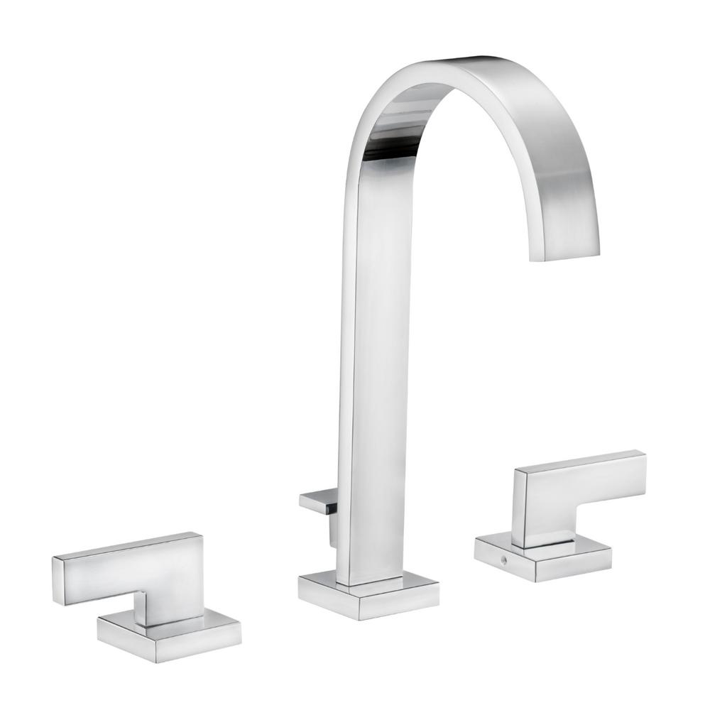 Design house karsen 8 in widespread 2 handle high arc - Polished chrome bathroom faucets ...