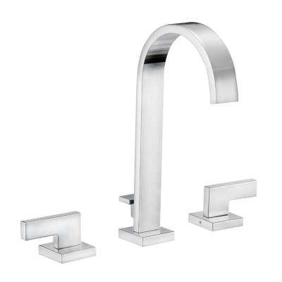 Karsen 8 in. Widespread 2-Handle High-Arc Bathroom Faucet in Polished Chrome