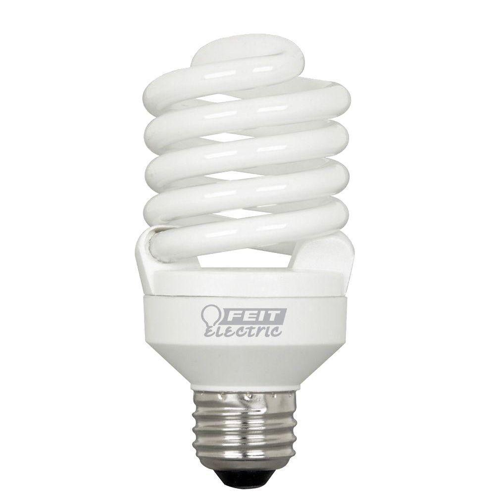 100-Watt Equivalent Soft White T2 Spiral CFL Light Bulb (24-Pack)