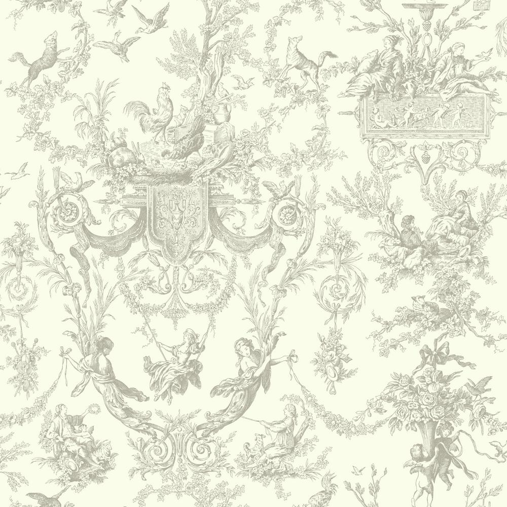 Ashford Toiles Old World Toile Wallpaper