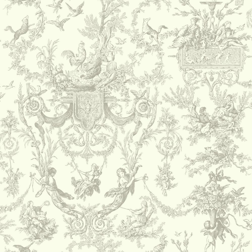 York Wallcoverings Ashford Toiles Old World Toile Wallpaper