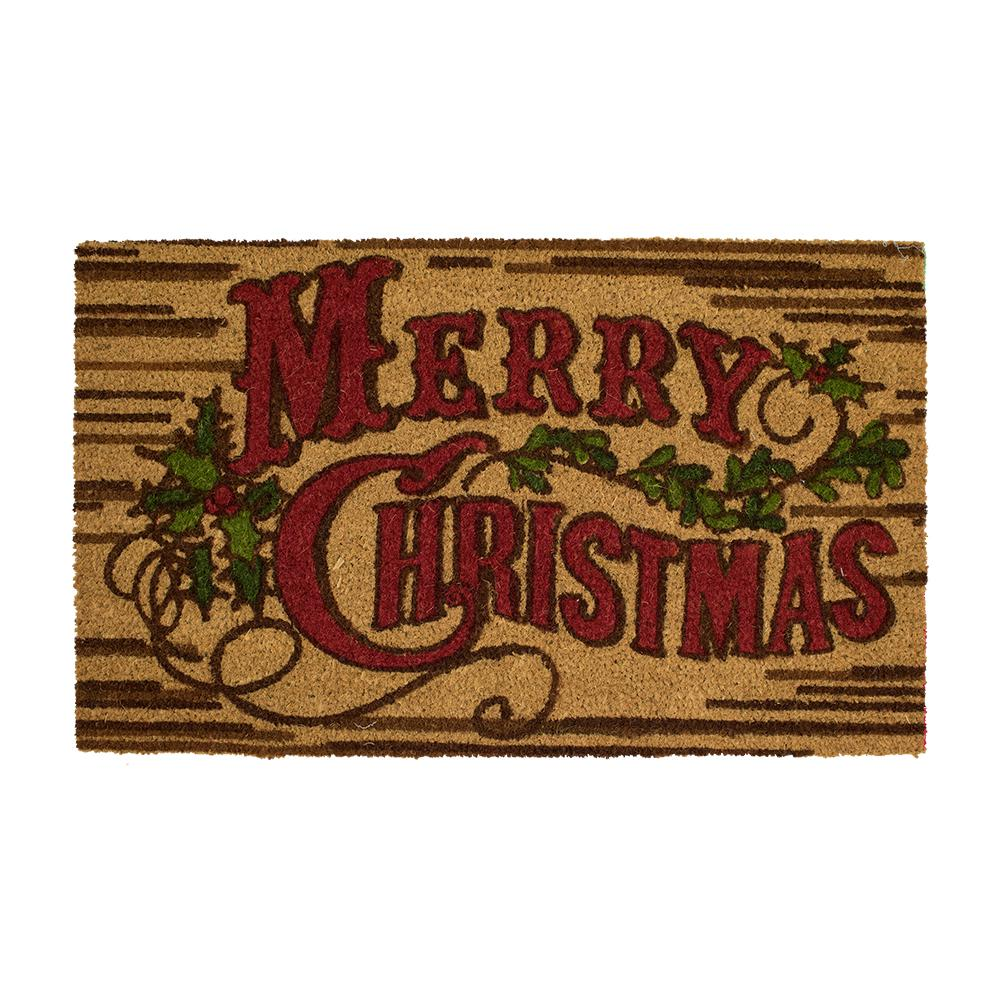 Home Accents Holiday Rustic Christmas 18 in. x 30 in. Coir Holiday ...