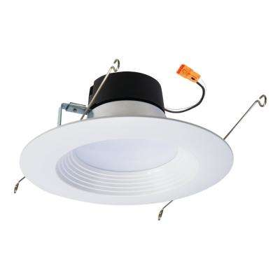 5 in. and 6 in. White Integrated LED Recessed Retrofit Baffle Trim, 90 CRI, 5000K, Daylight