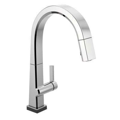 Pivotal Single-Handle Pull-Down Sprayer Kitchen Faucet with Touch2O Technology and MagnaTite Docking in Chrome