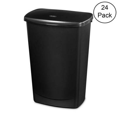 11.4 Gal. Lift-Top Covered Wastebasket Trash Can (24-Pack)