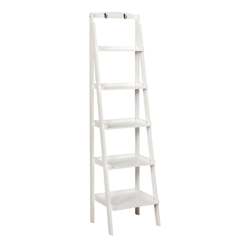 Nicole White 5-Tier Ladder Shelf