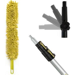 5 ft. to 12 ft. Extension Pole + Microfiber Ceiling Fan Duster / High Ceiling Telescopic Dusting Kit