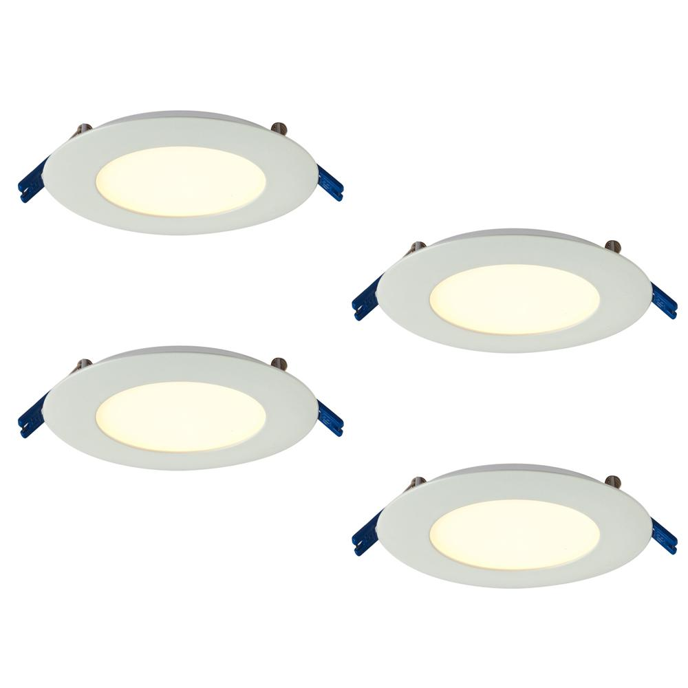 Illume Lighting Pro Series 4 in. Warm White 2700K Integrated LED Recessed Kit (4-Pack)