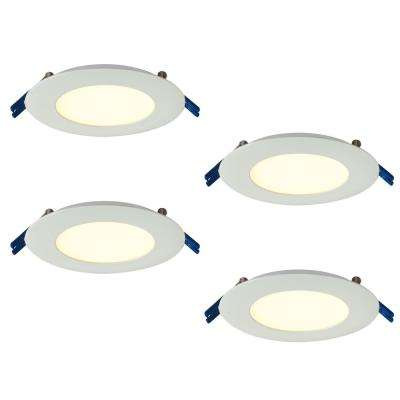 Pro Series 4 in. Warm White 2700K Integrated LED Recessed Kit (4-Pack)