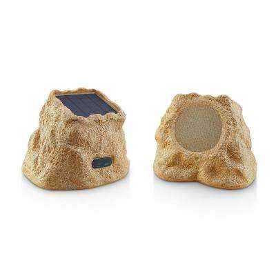 Solar Rok Blue Tooth Weatherproof Landscape Speakers With (ERB) Extended Range Bluetooth Technology-Canyon Sandstone