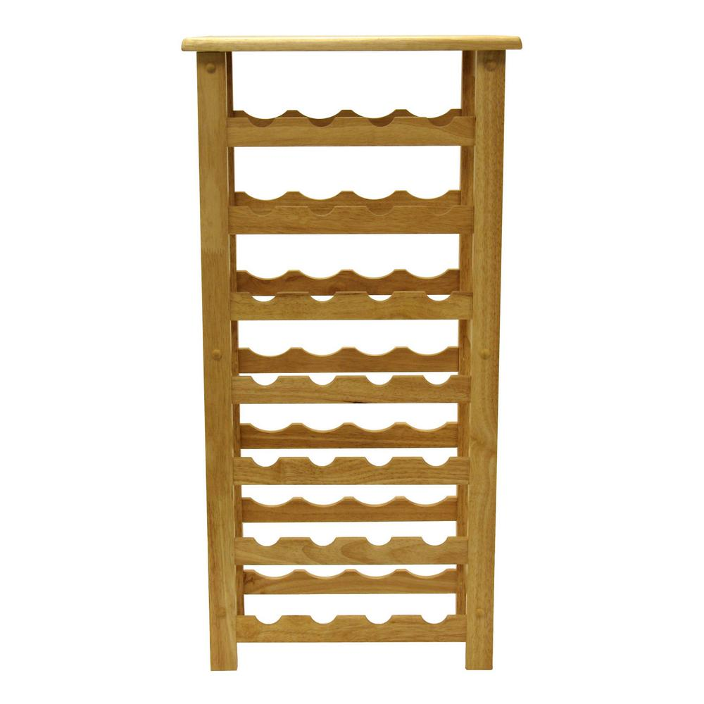 Winsome Wood Napa 28 Bottle Natural Floor Wine Rack 83028 The Home