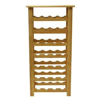 Napa 28-Bottle Natural Floor Wine Rack