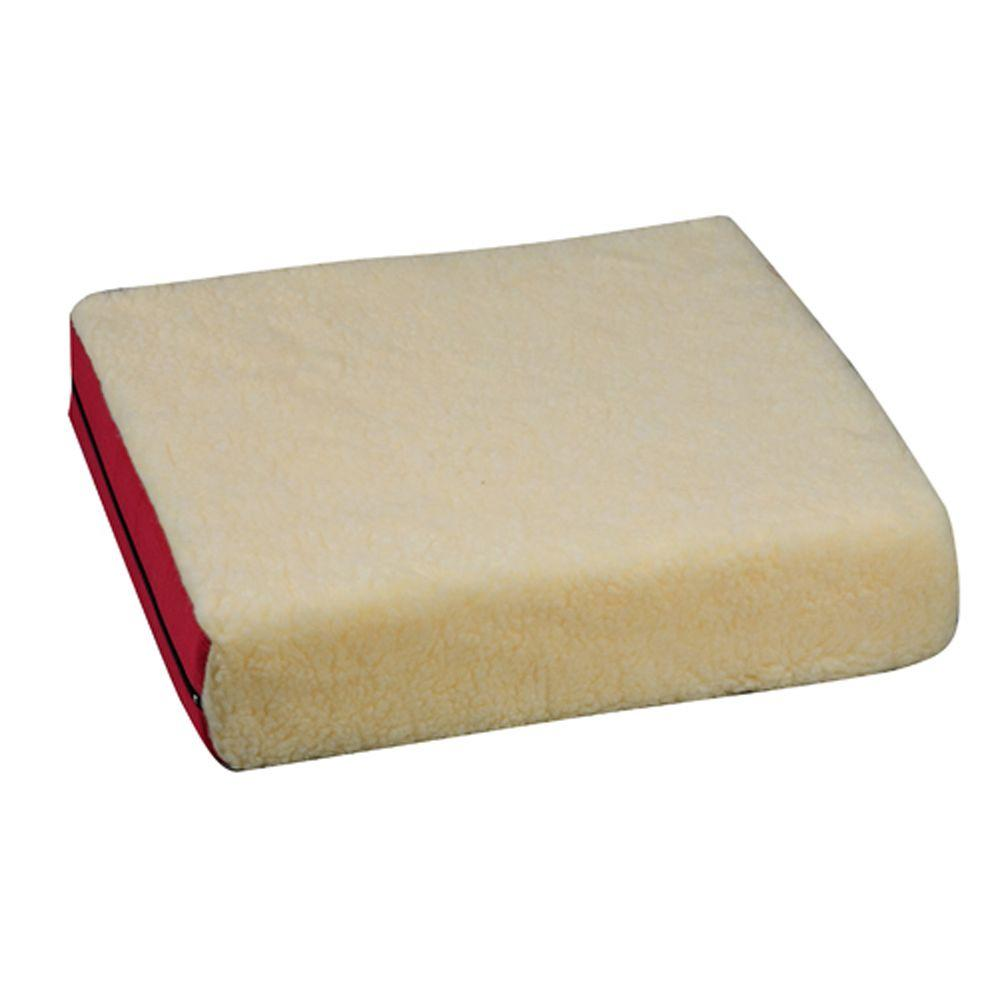 null Standard Polyfoam Wheelchair Cushion in Burgundy Fleece