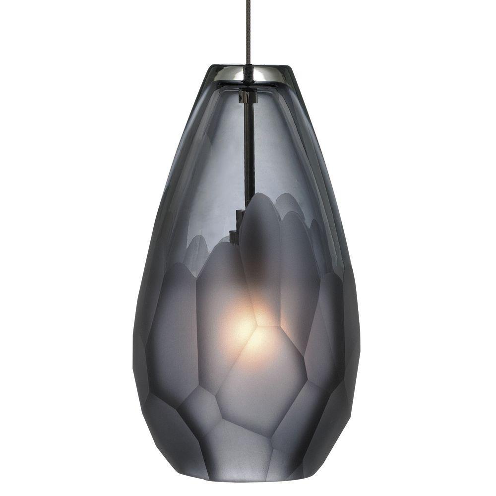 LBL Lighting Briolette 1-Light Bronze Pendant with Smoke Shade