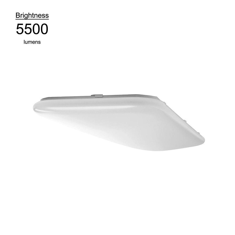 Hampton Bay 4 ft. x 1.5 ft. Bright White Rectangular LED Flushmount Ceiling Light Fixture Dimmable
