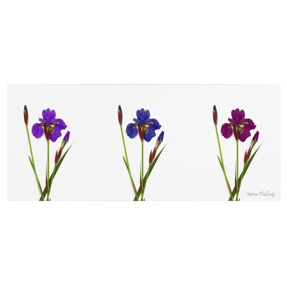 10 in. x 24 in. Siberian Iris Triptych Canvas Art