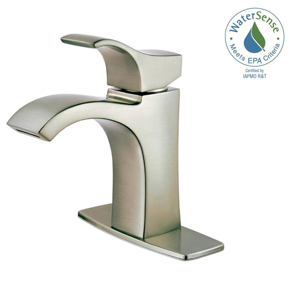 Attirant Pfister Venturi Single Hole Single Handle Bathroom Faucet In Brushed Nickel