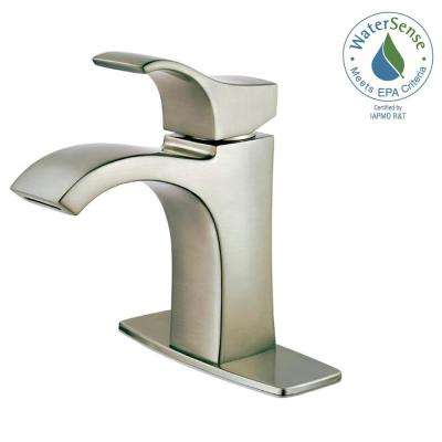 Venturi Single Hole Single-Handle Bathroom Faucet in Brushed Nickel