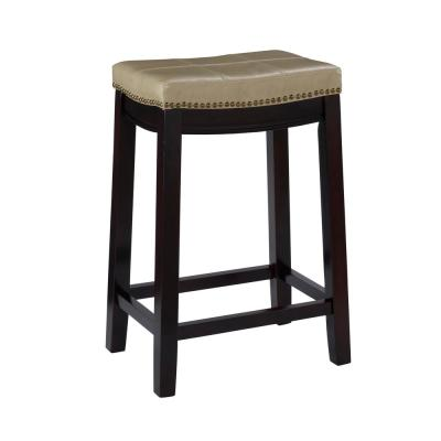 Claridge 26 in. Beige Cushioned Counter Stool