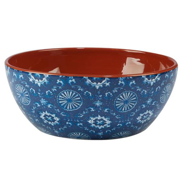 Certified International Porto Multi-Colored 10 in. x 4 in. Deep Bowl