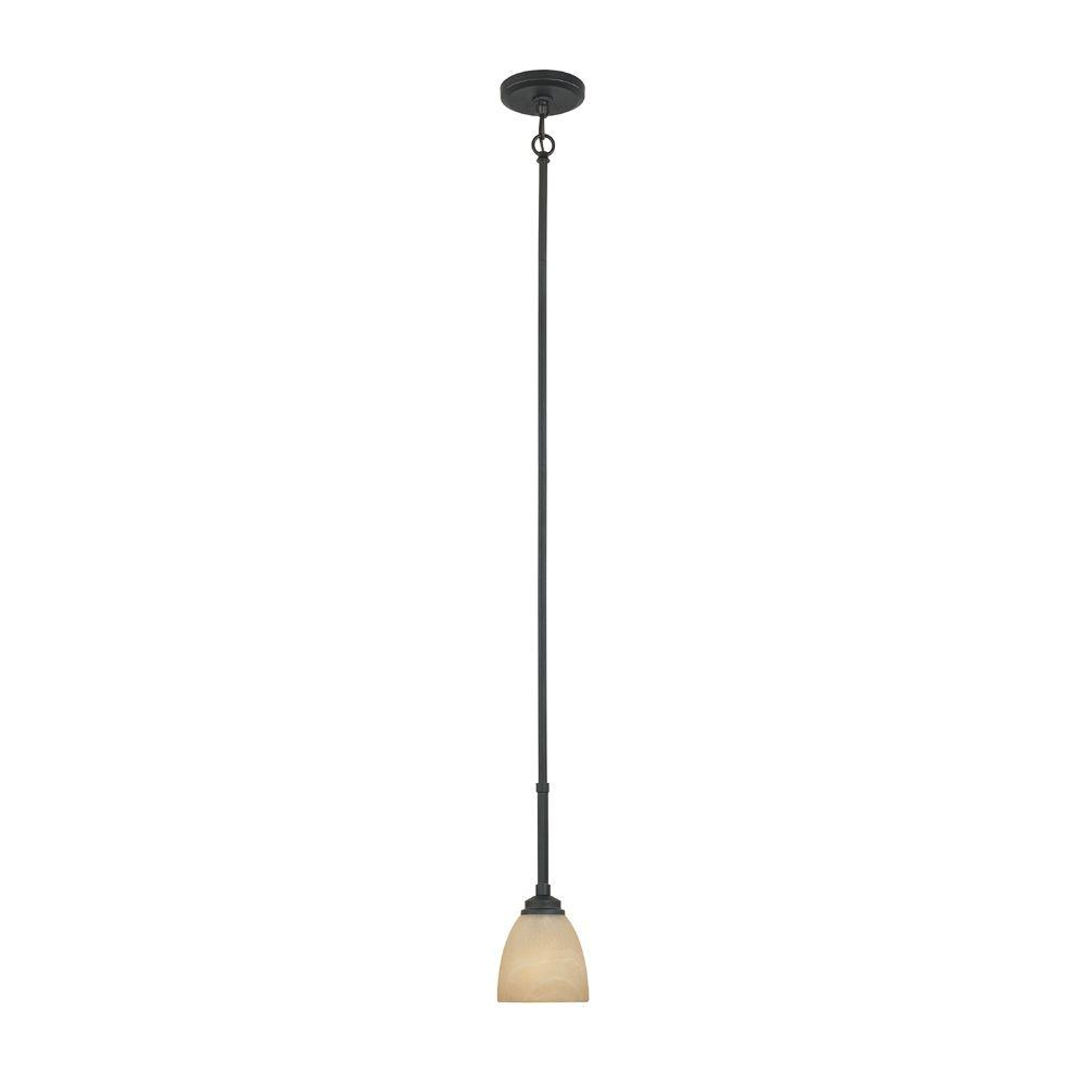 Designers Fountain Manhattan 1-Light Burnished Bronze Hanging Mini Pendant