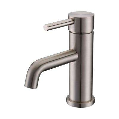 Single Hole Single-Handle 6.5 in. Lavatory Faucet in Brushed Nickel