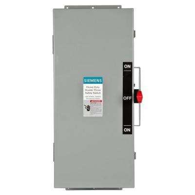 Double Throw 100 Amp 600-Volt 3-Pole Type 12 Non-Fusible Safety Switch