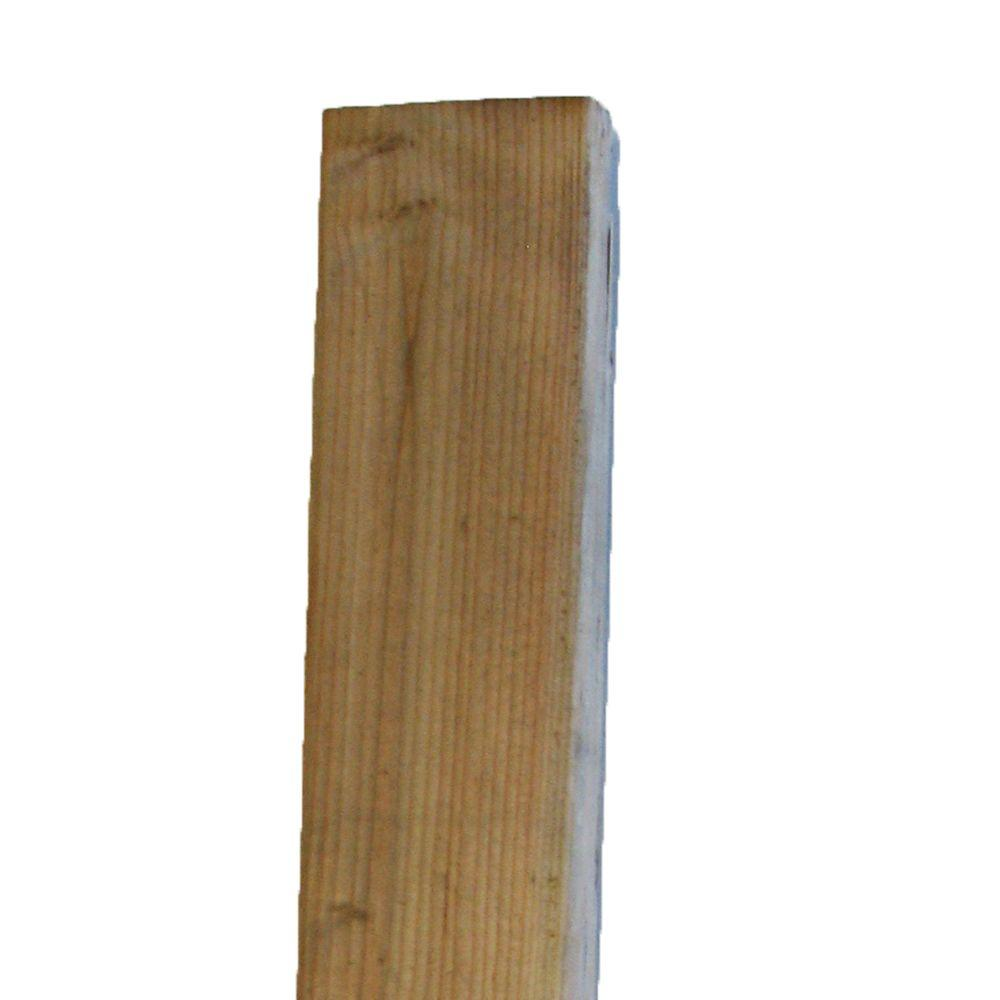 2 In X 4 In X 92 1 4 In Borate Pressure Treated Douglas Fir Stud 95350 The Home Depot