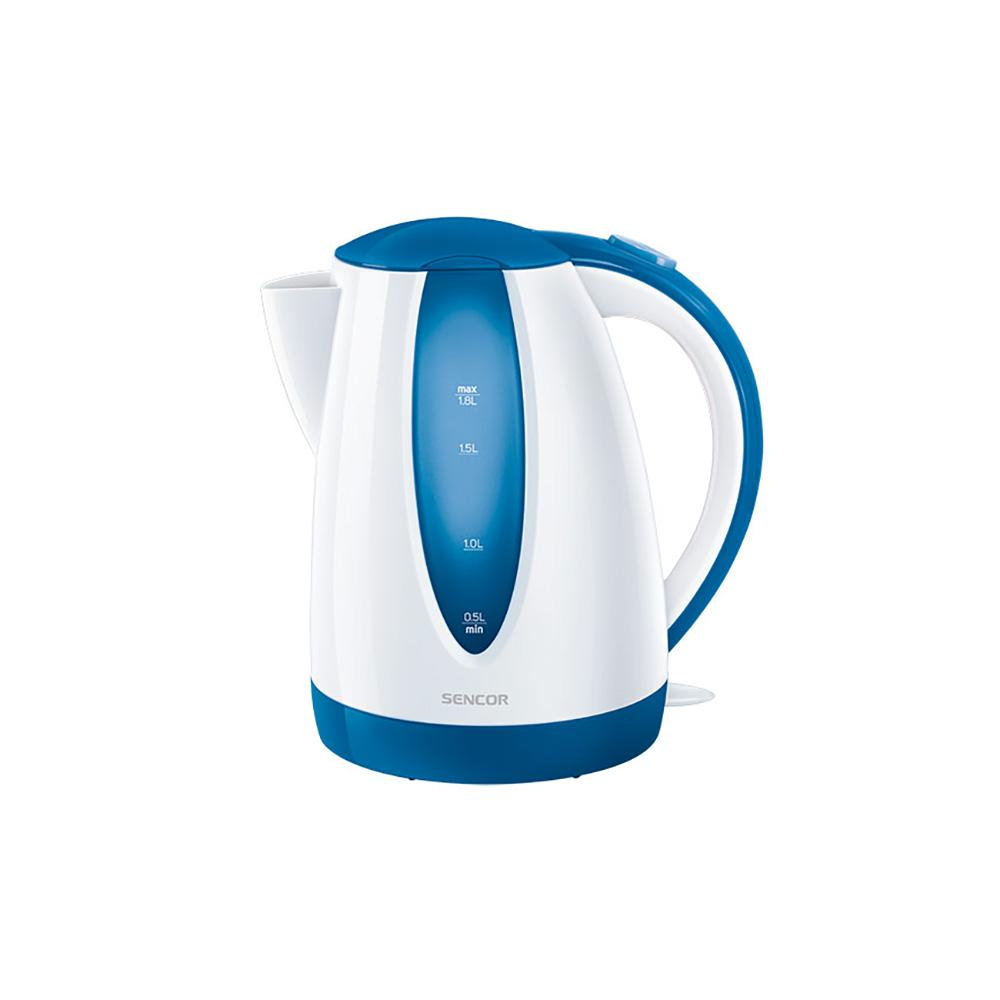 Sencor 7.6-Cup Cordless Blue Electric Kettle with Automatic Shut Off Cordless electric kettles by Sencor heats water twice as fast as stove top, offering better speed, convenience, energy efficiency and safety This electric kettle comes with a 360° swivel and bright finish. Color-coordinate with other kitchen electrics by Sencor to create a beautiful kitchen with European design touch. Color: Blue.