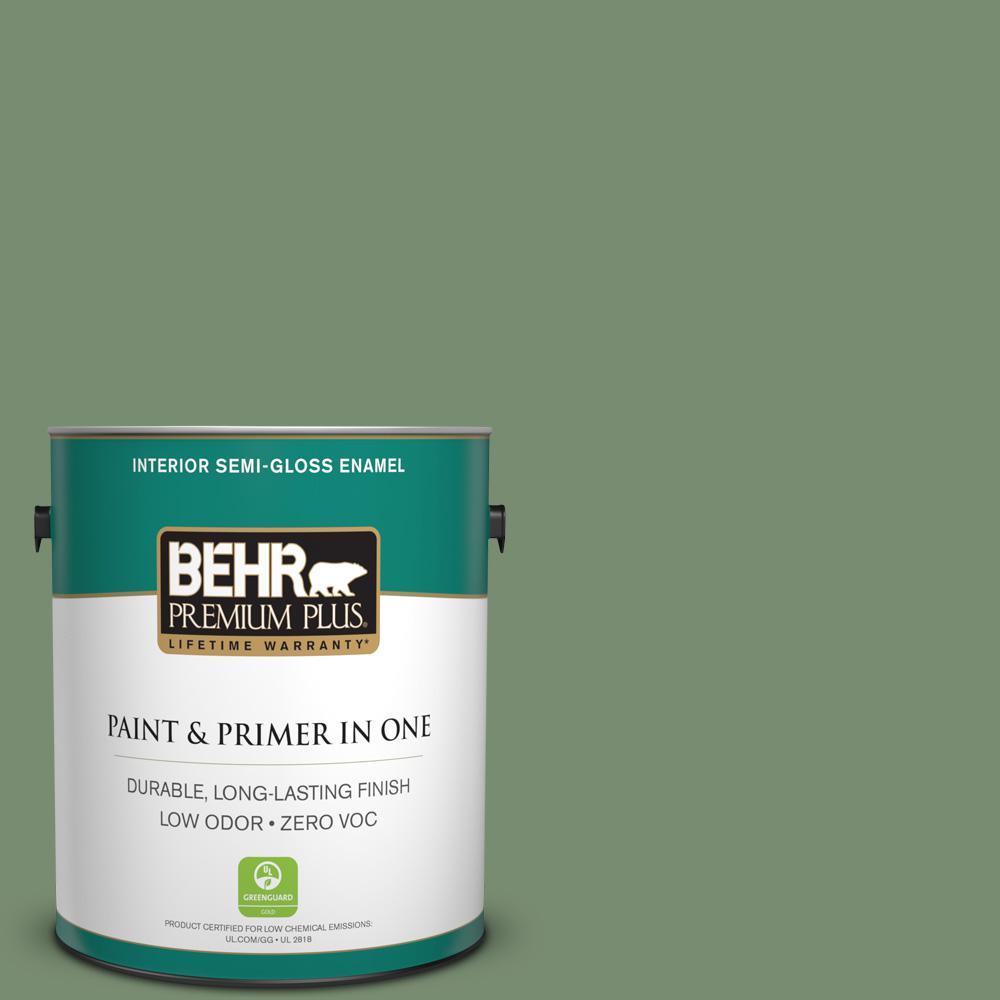 1 gal. #PPU11-02 Shallot Bulb Zero VOC Semi-Gloss Enamel Interior Paint