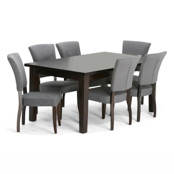 Simpli Home Joseph 7-Piece Dining Set With 6 Upholstered