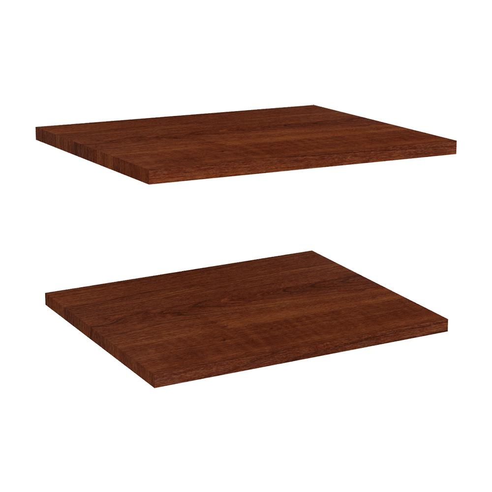 Impressions 16 in. Extra Shelves in Dark Cherry (2-Pack) for 16