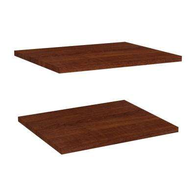Impressions 16 in. Extra Shelves in Dark Cherry (2-Pack)
