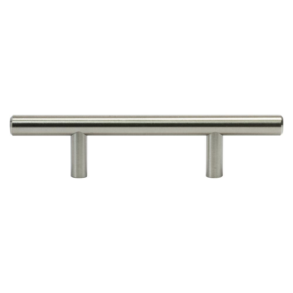 "1/""-10/"" Kitchen Cabinet Pulls Brushed Nickel Stainless Steel T Bar Drawer Knobs"