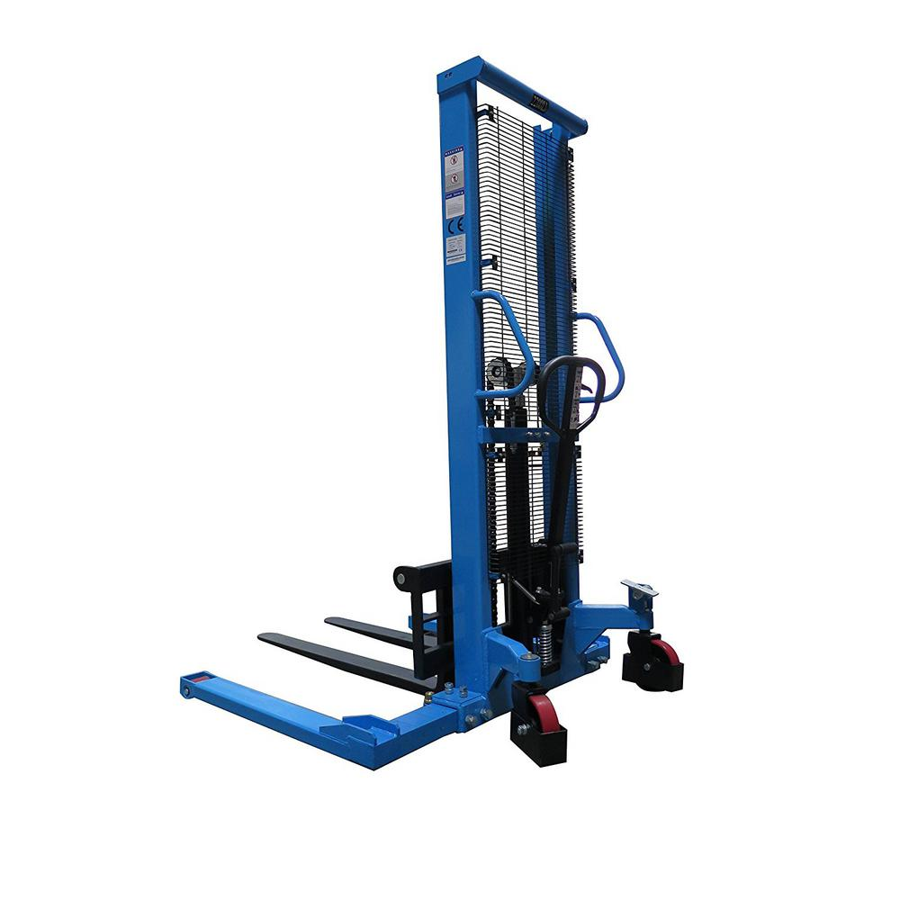 Straddle Pallet Truck Stacker 2200 lbs. 63 in. Adjustable Legs and