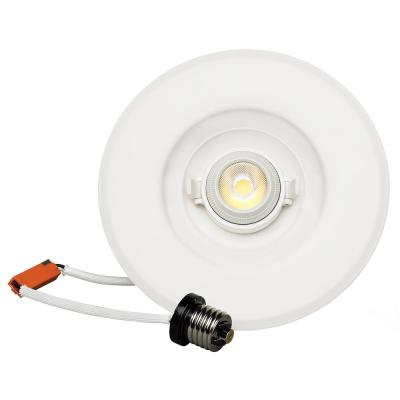 6 in. 2700K Warm White Dimmable New Construction or Remodel Adjustable Recessed Integrated LED Kit, 750 Lumens
