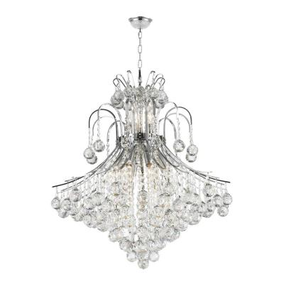 Empire 15-Light Polished Chrome Chandelier with Clear Crystal