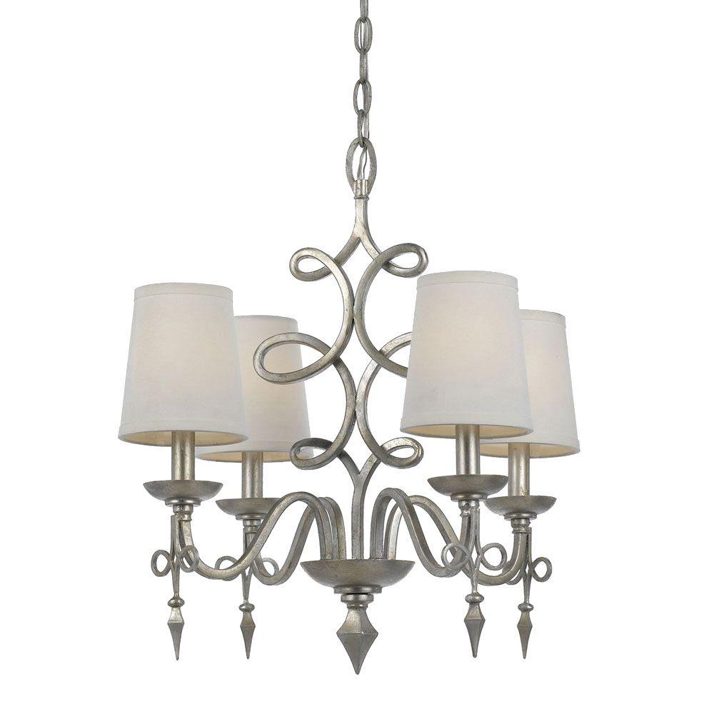 Tadpoles 4 light white mini chandelier cchapl410 the home depot arubaitofo Images