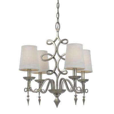8602 4-Light Silver Mini Chandelier