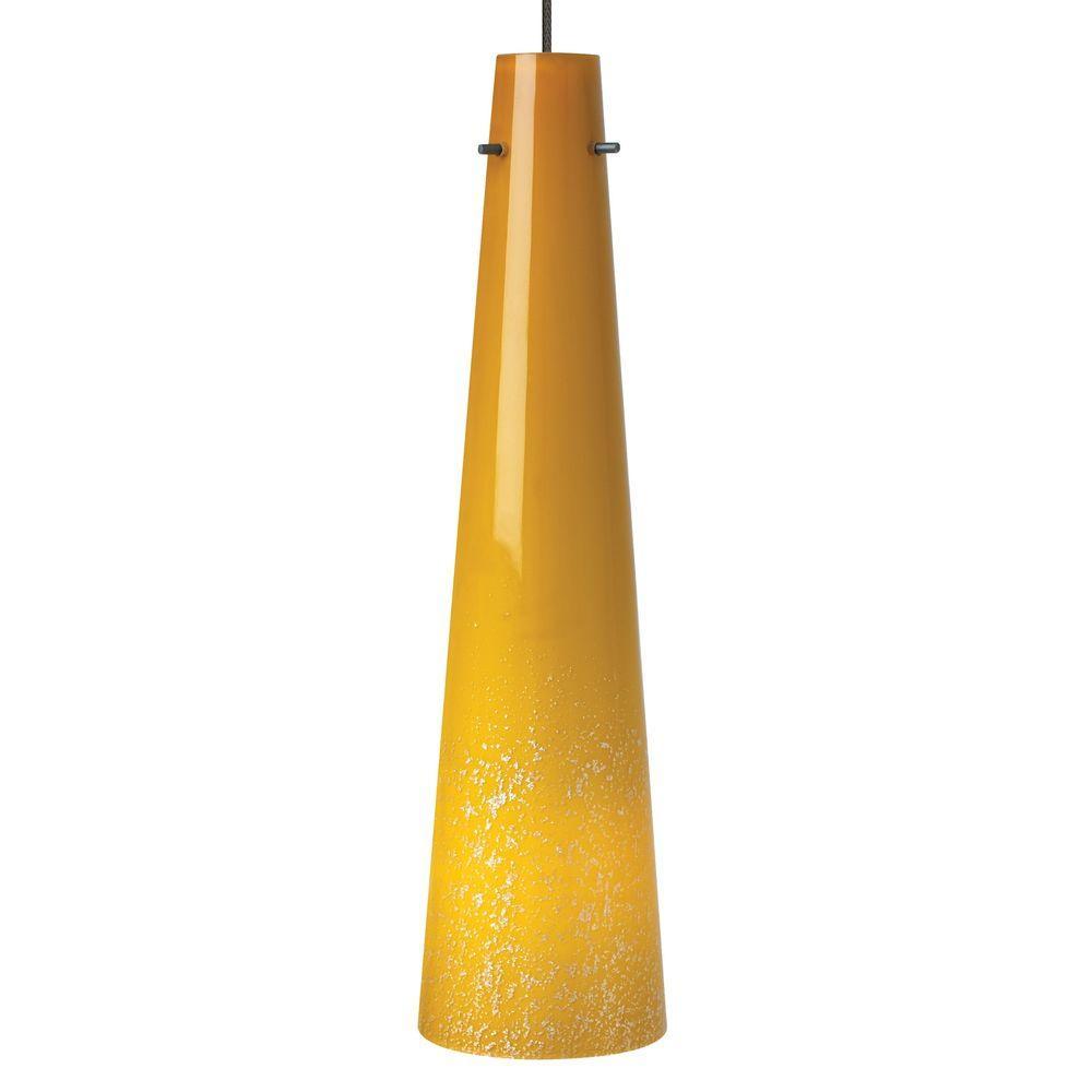 LBL Lighting Mini Pavia 1-Light Bronze Amber LED Hanging Mini Pendant