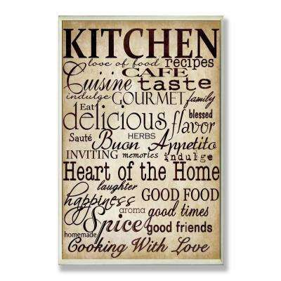 "12.5 in. x 18.5 in. ""Words In The Kitchen Off White"" by Gplicensing Printed Wood Wall Art"
