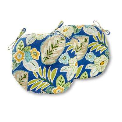 Marlow Floral 15 in. Round Outdoor Seat Cushion (2-Pack)