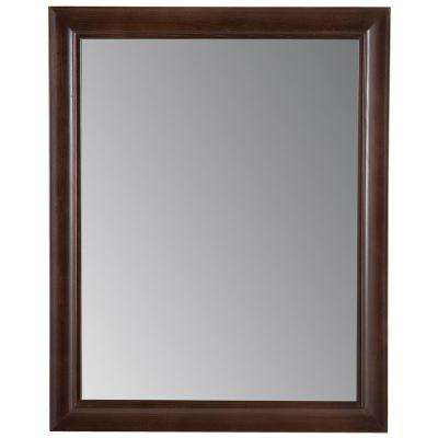 Candlesby 22 in. x 27 in. Framed Wall Mirror in Cognac