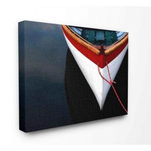 36 in. x 48 in. ''Bow of a White Wooden Docked Boat'' by Anita Nowacka / DanitaDelimont.com Canvas Wall Art